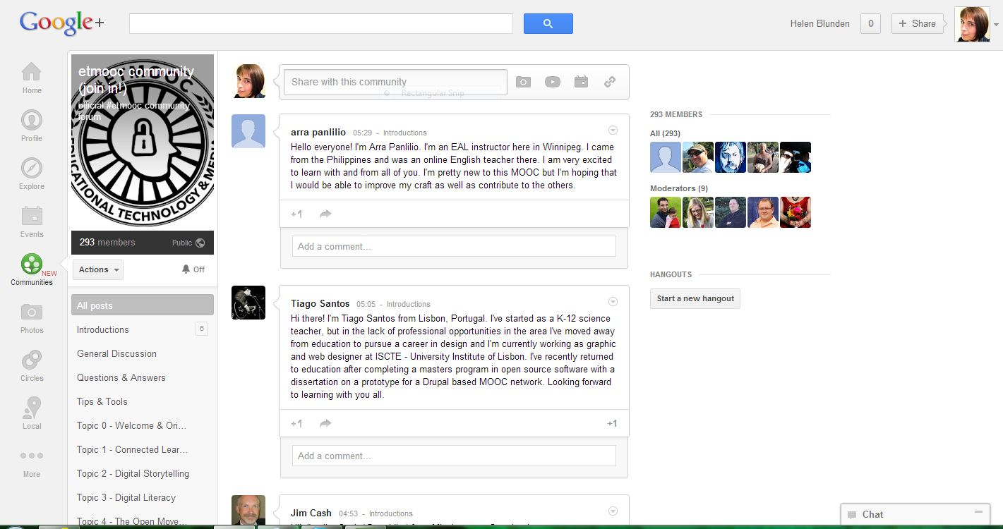 Our Google+ Community already is in progress...the excitement is building